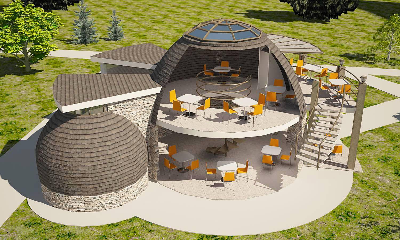 Проект и дизайн круглого дома